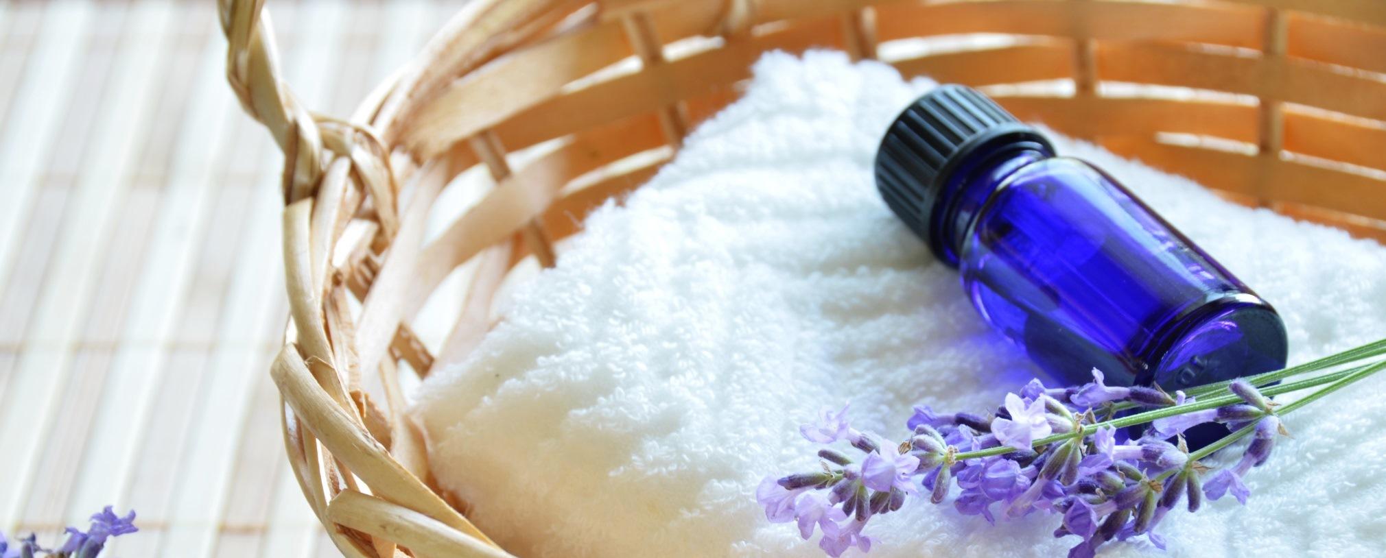 slider lavender in basket