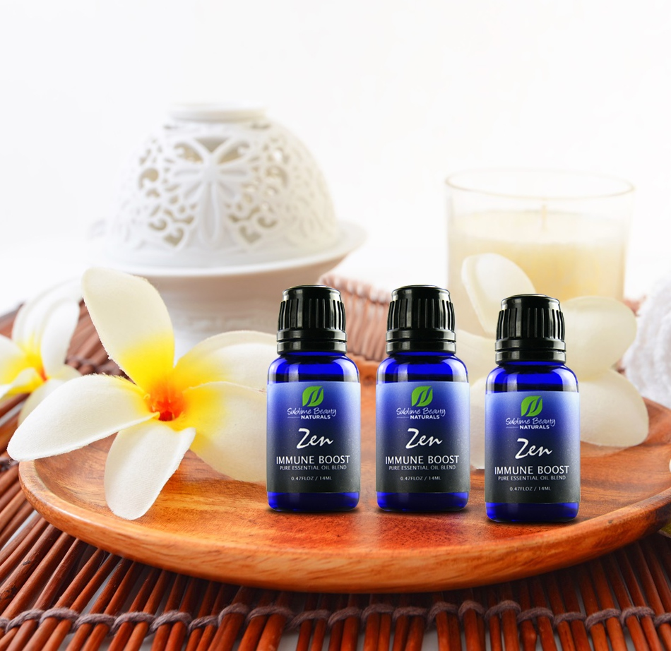 zen immune boost 3 bottles on tray squared sublime naturals